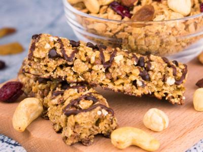 Barre de céréales aux pépites de chocolat